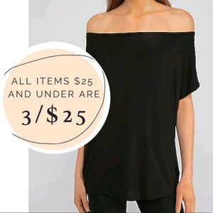 3/$25 Express One Eleven relaxed off the shoulder London tee